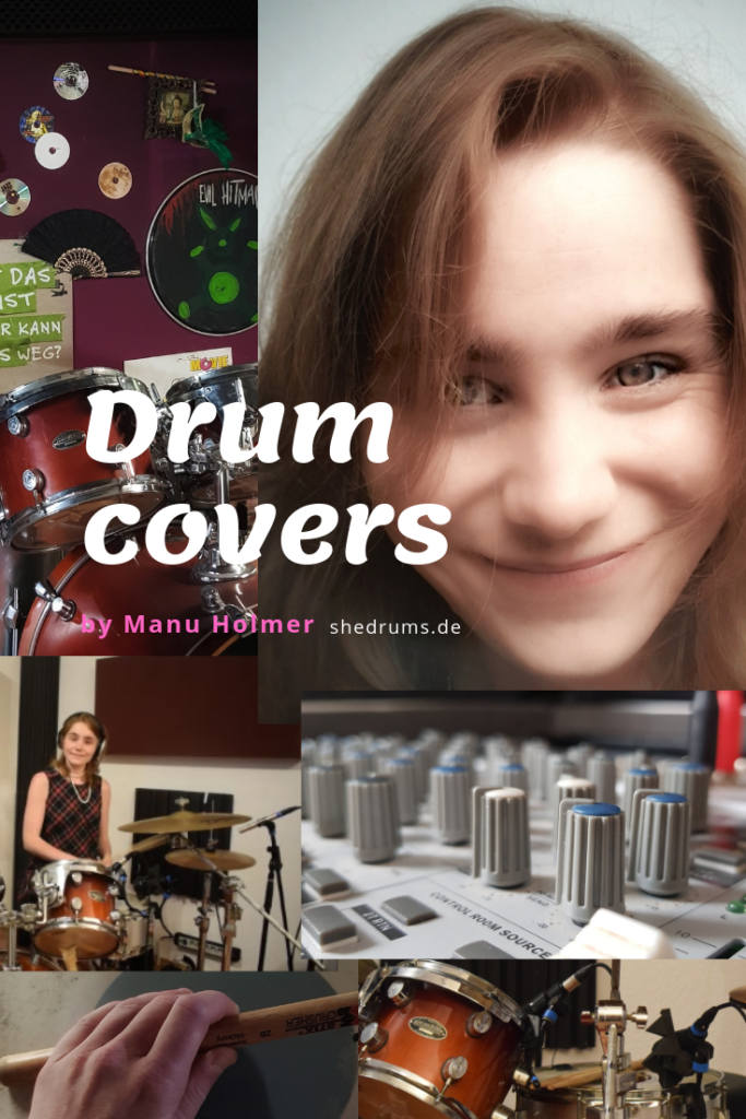 Drum covers female drummer