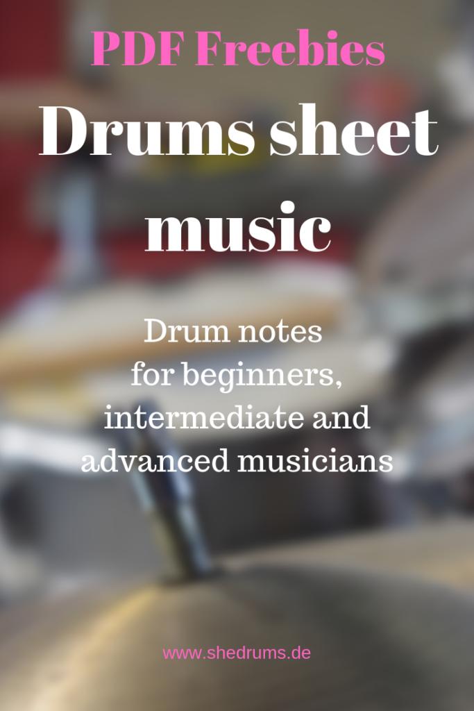 drums sheet music pdf