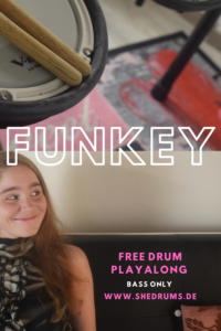 Funkey Bass only drum playalong + free tabs PDF