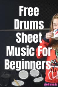Drums sheet music beginner