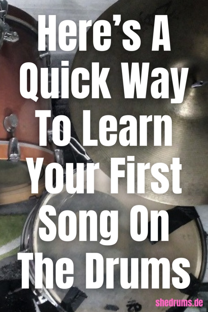 learn first song on the drums