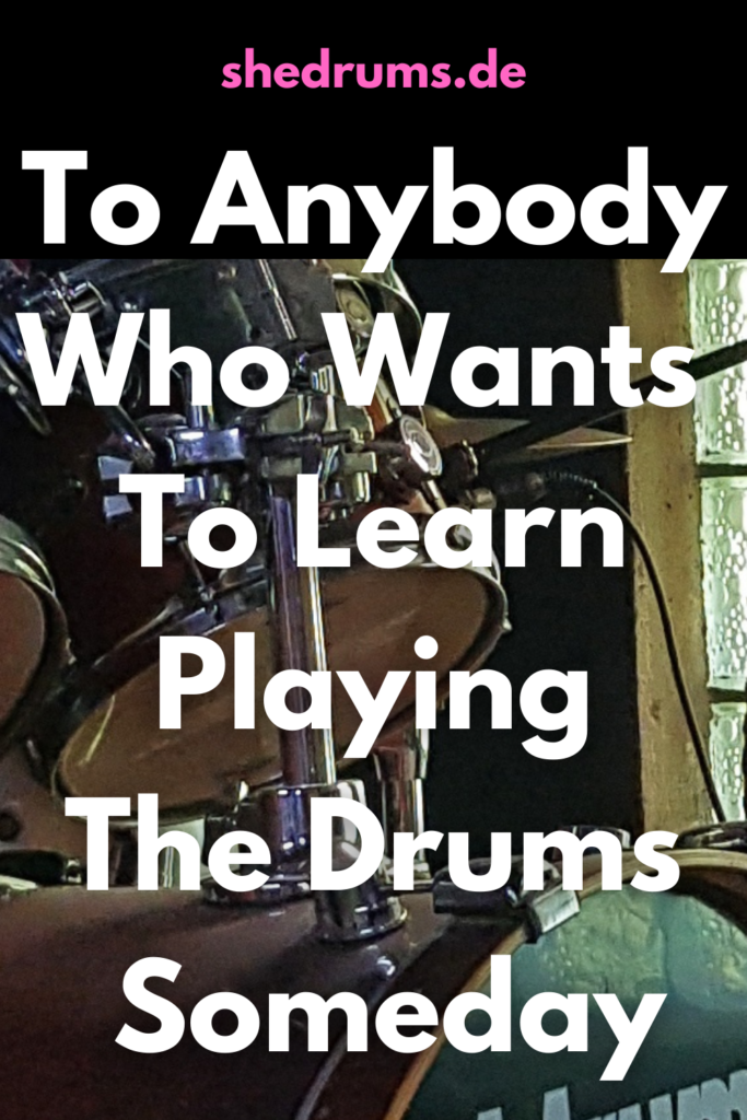 Learn playing the drums