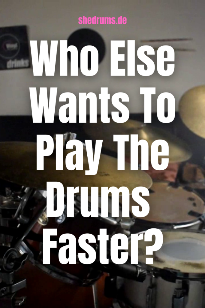 play drums faster