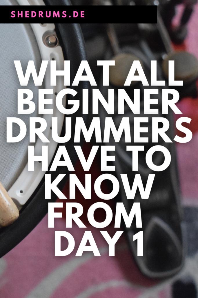Beginner drummers tips