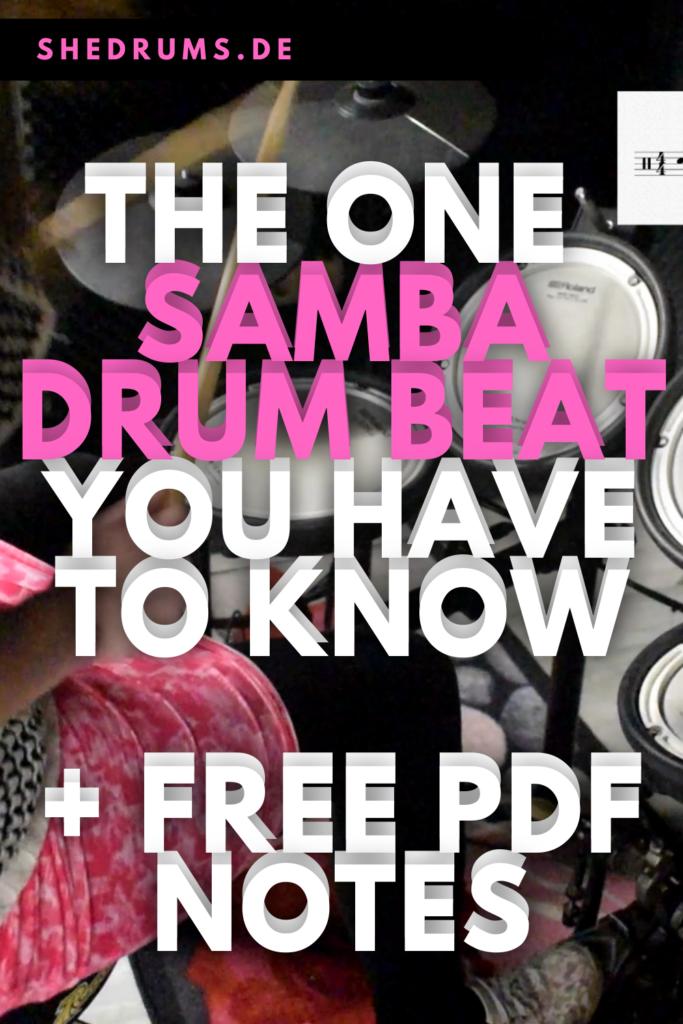Samba Drum Beat 16th notes